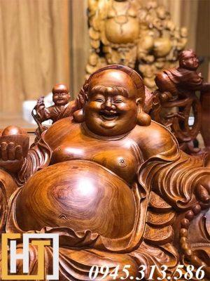 diện tượng di lặc ngũ phúc gỗ hương hàng vip