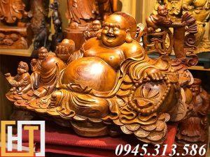 tượng di lặc ngũ phúc gỗ hương hàng vip