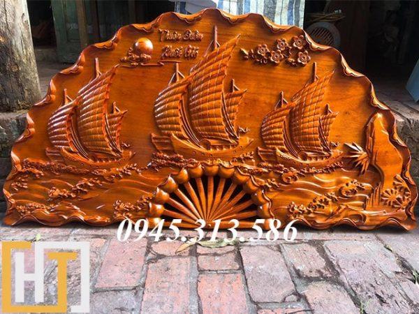 quạt gỗ thuận buồm xuôi gió cao 60