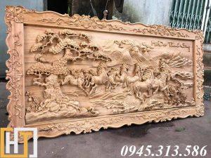 mặt nghiêng tranh gỗ mã đáo thành công khổ lớn