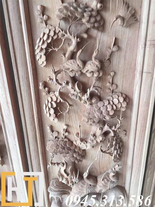 bức tùng trong bộ tranh tứ quý gỗ hương ta