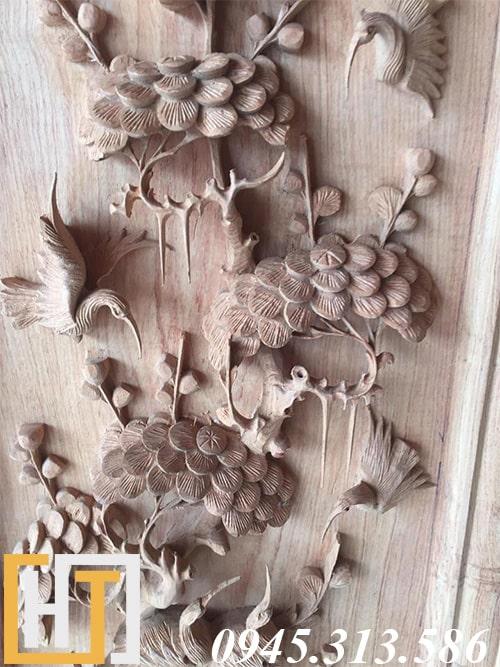 Tranh tứ quý gỗ hương ta 1