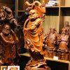 tượng gỗ đạt ma quá hải cao 110