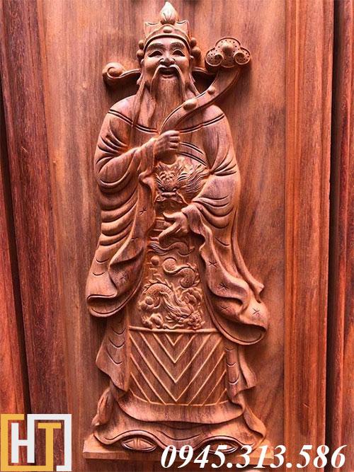tranh gỗ tượng ông lộc
