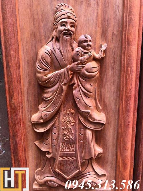 tranh gỗ tượng ông phúc