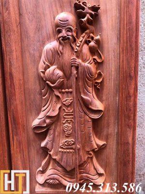 tranh gỗ tượng ông thọ