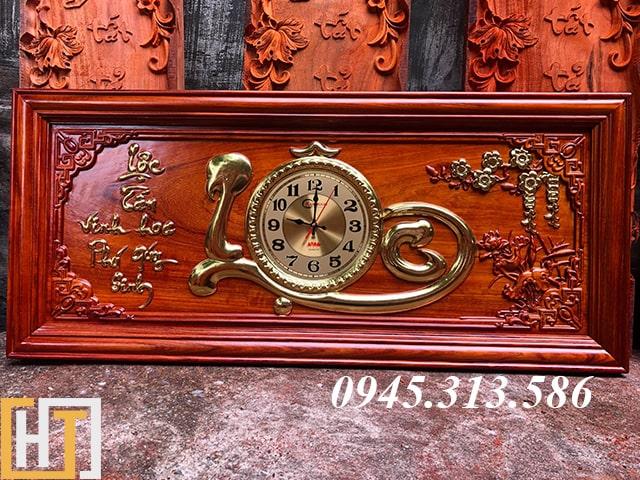 tranh đồng hồ chữ lộc dài 1m08 cao 48cm dày 3,5cm