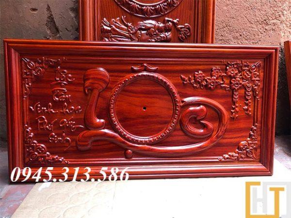 tranh đồng hồ chữ lộc sơn PU