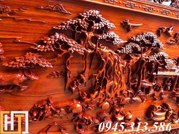 cây đa trong bức tranh đồng quê