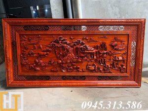 tranh đồng quê gỗ hương