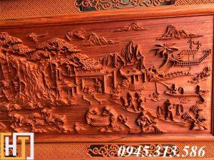 tranh gỗ đồng quê dài 1m97-2