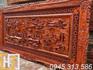 giá tranh gỗ vinh quy bái tổ