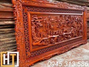 Tranh gỗ hương vinh quy bái tổ dài 1m97 x 97cm x5cm 3