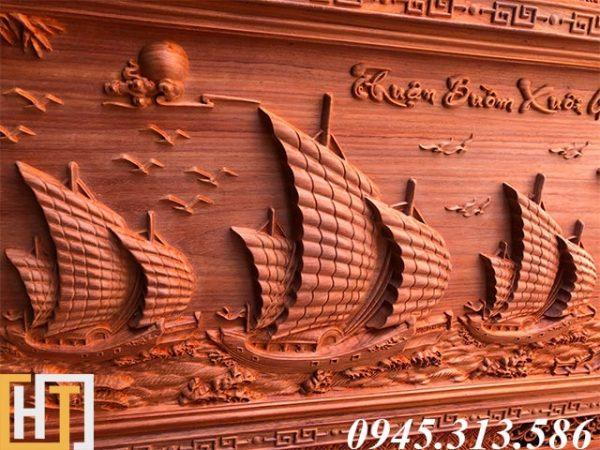 thuyền buồm tranh thuận buồm xuôi gió dài 197x97x5