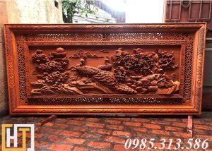 tranh phu gỗ hương thê viên mãn