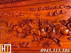 Tranh ngựa bát mã truy phong dài 1m97 rộng 97cm dày 5cm 3