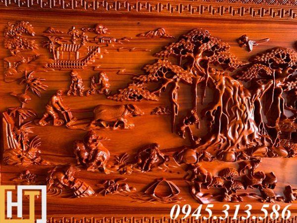Tranh gỗ đồng quê kích thước nhỏ dài 1m55 1