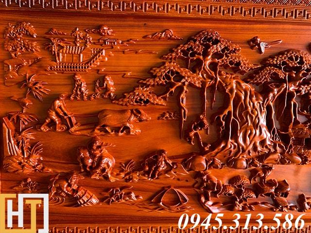 Tranh gỗ đồng quê kích thước nhỏ dài 1m55 5
