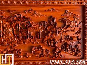 Tranh gỗ đồng quê kích thước nhỏ dài 1m55 4