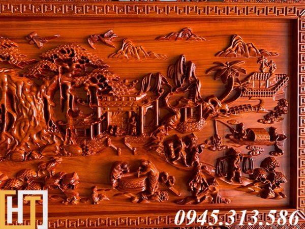 Tranh gỗ đồng quê kích thước nhỏ dài 1m55 2
