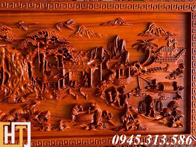 Tranh gỗ đồng quê kích thước nhỏ dài 1m55 6