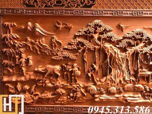 tranh gỗ đồng quê