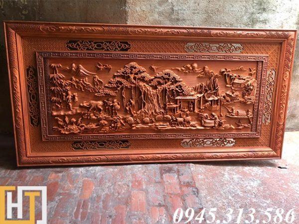 tranh gỗ đồng quê giá rẻ