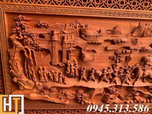 Tranh gỗ vinh quy bái tổ đẹp loại VIP dài 2m37 12