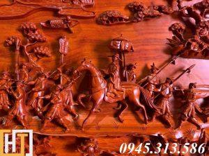 Tranh gỗ vinh quy bái tổ đẹp loại VIP dài 2m37 10