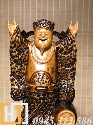 diện tượng thần tài nghênh hỷ gỗ pơmu