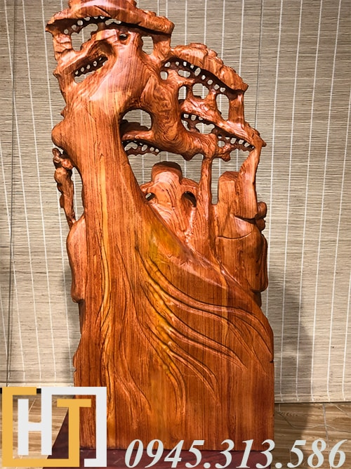 mặt sau tượng tam đa gỗ hương đá