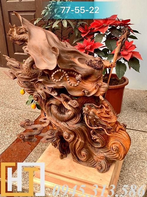 tượng đạt ma hàng long gỗ trắc gia lai