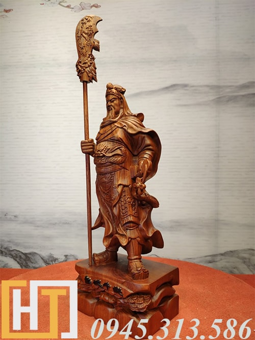 Tượng quan công trung nghĩa gỗ hương ta 1
