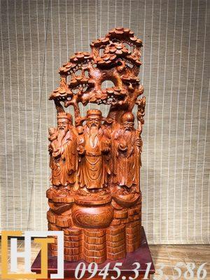 tượng tam đa gỗ hương đá