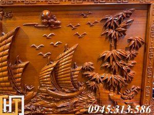 Tranh gỗ thuận buồm xuôi gió đẹp dài 2m17 5