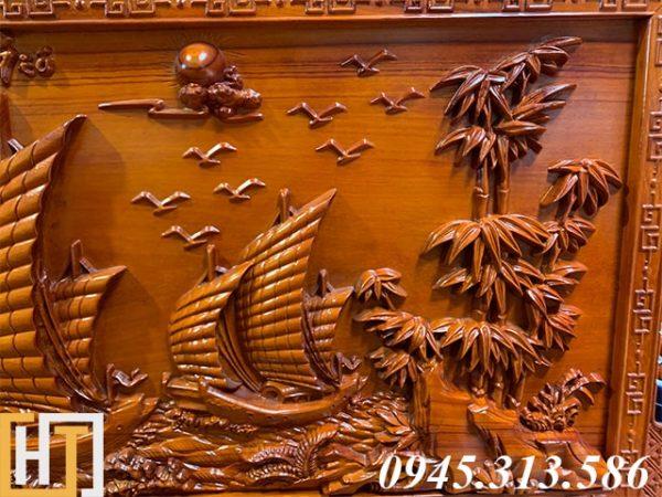 Tranh gỗ thuận buồm xuôi gió đẹp dài 2m17 1