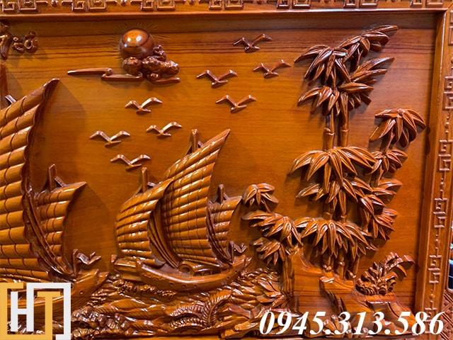 Tranh gỗ thuận buồm xuôi gió đẹp dài 2m17 9