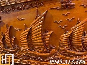 Tranh gỗ thuận buồm xuôi gió đẹp dài 2m17 6