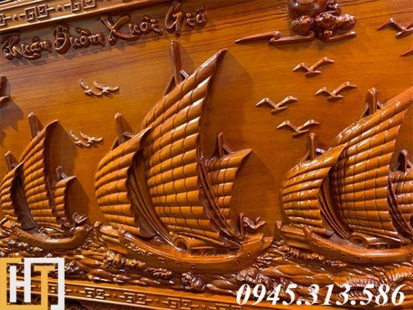 Tranh gỗ thuận buồm xuôi gió đẹp dài 2m17 2