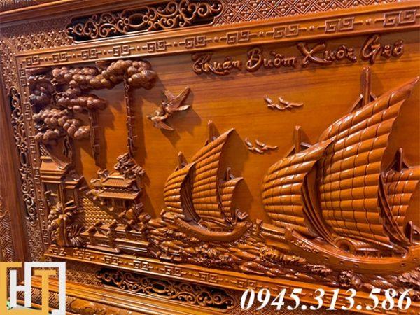 Tranh gỗ thuận buồm xuôi gió đẹp dài 2m17 3