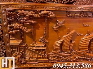 Tranh gỗ thuận buồm xuôi gió đẹp dài 2m17 8