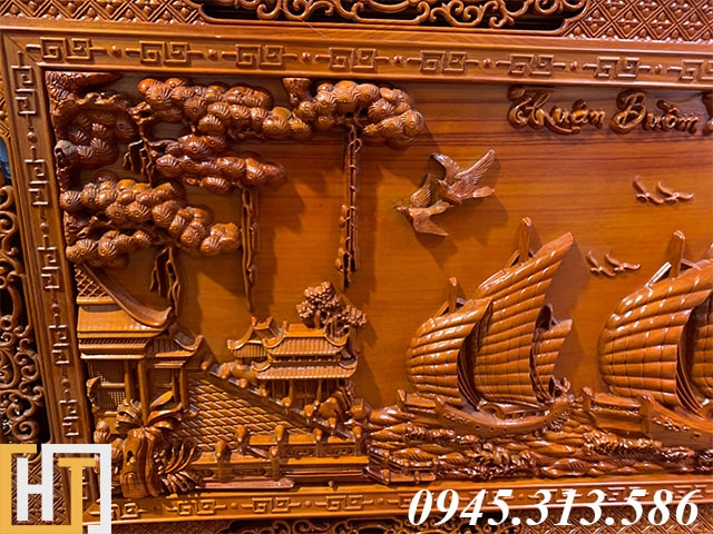 Tranh gỗ thuận buồm xuôi gió đẹp dài 2m17 11