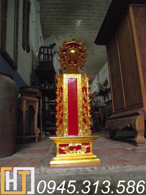 bài vị thờ gia tiên cao 69cm sơn son thếp vàng