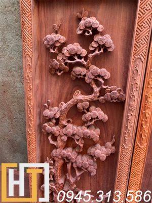 Tranh tứ quý vip gỗ hương 42x127x6 5