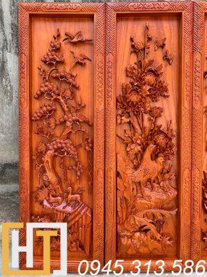 bức tùng cúc gỗ hương ngang 37 cao 117 dày 5,5