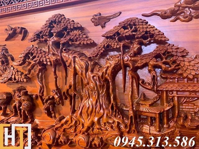 Tranh đồng quê bằng gỗ dài 2m17 1
