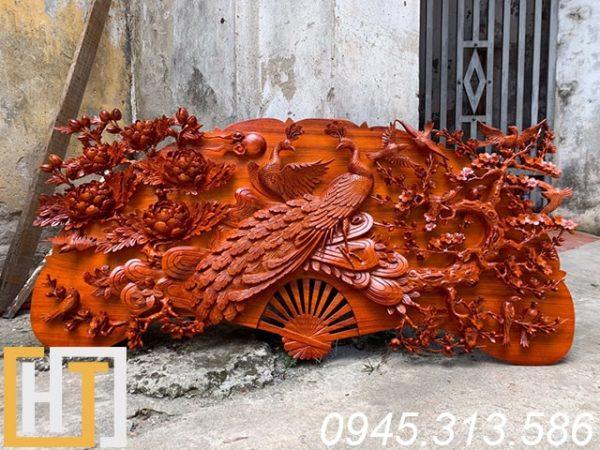 tranh phu thê viên mãn gỗ hương đỏ nguyên khối dài 1m50 cao 70cm gỗ nguyên tấm dày 8cm