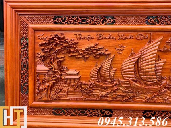Tranh gỗ thuận buồm xuôi gió dài 1m55 1