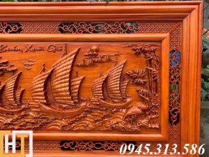 Tranh gỗ thuận buồm xuôi gió dài 1m55 5