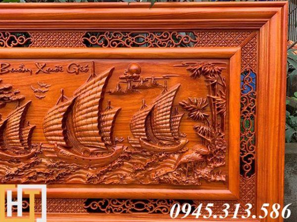 Tranh gỗ thuận buồm xuôi gió dài 1m55 2